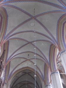 Taket inne i kyrkan på Barth